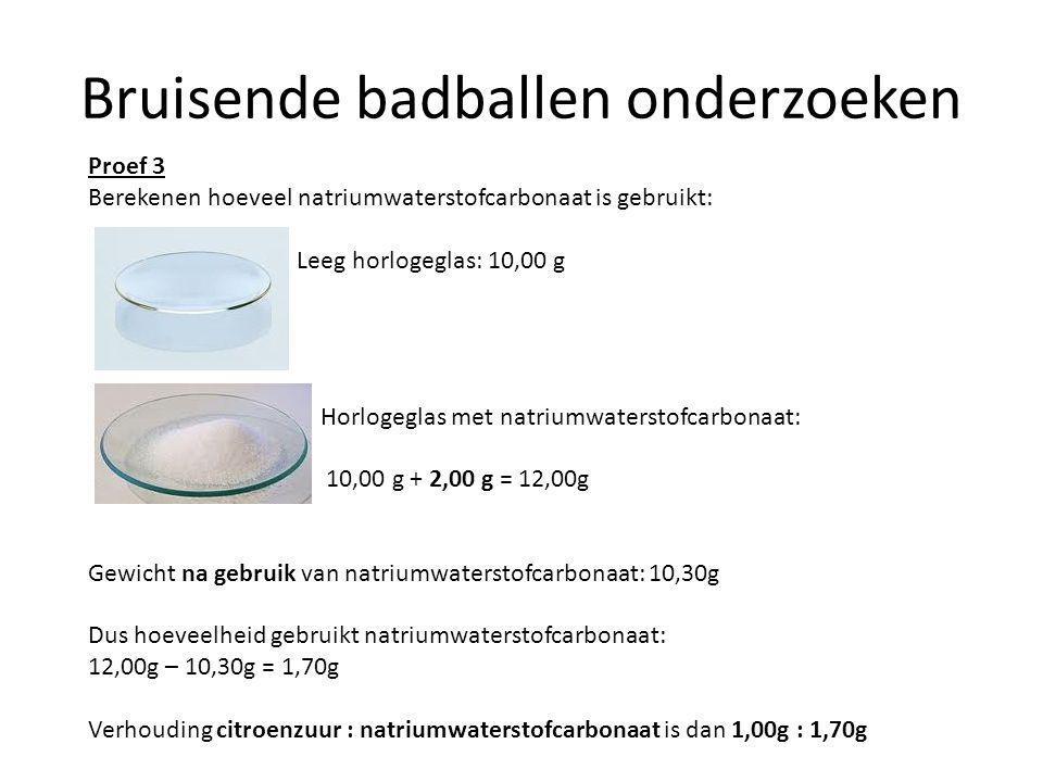 Bruisende badballen onderzoeken