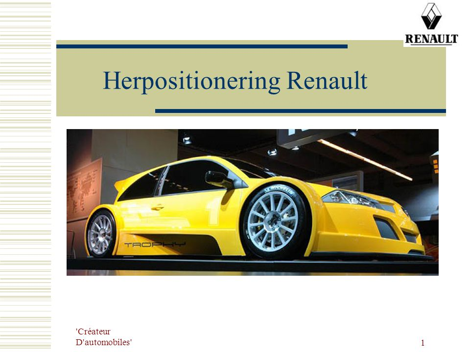 Herpositionering Renault