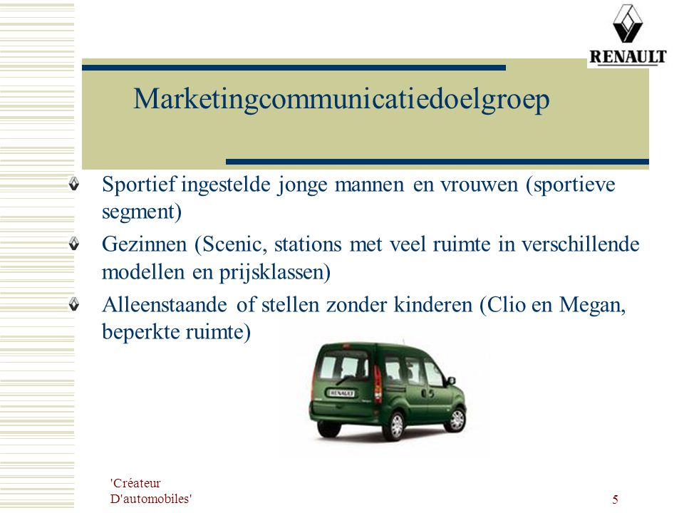 Marketingcommunicatiedoelgroep