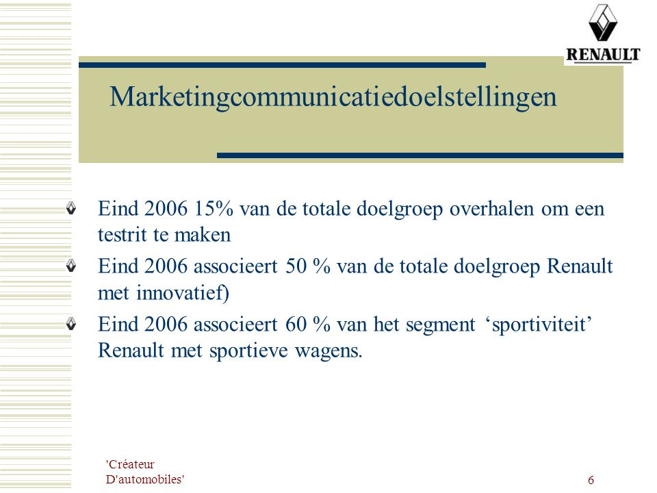 Marketingcommunicatiedoelstellingen