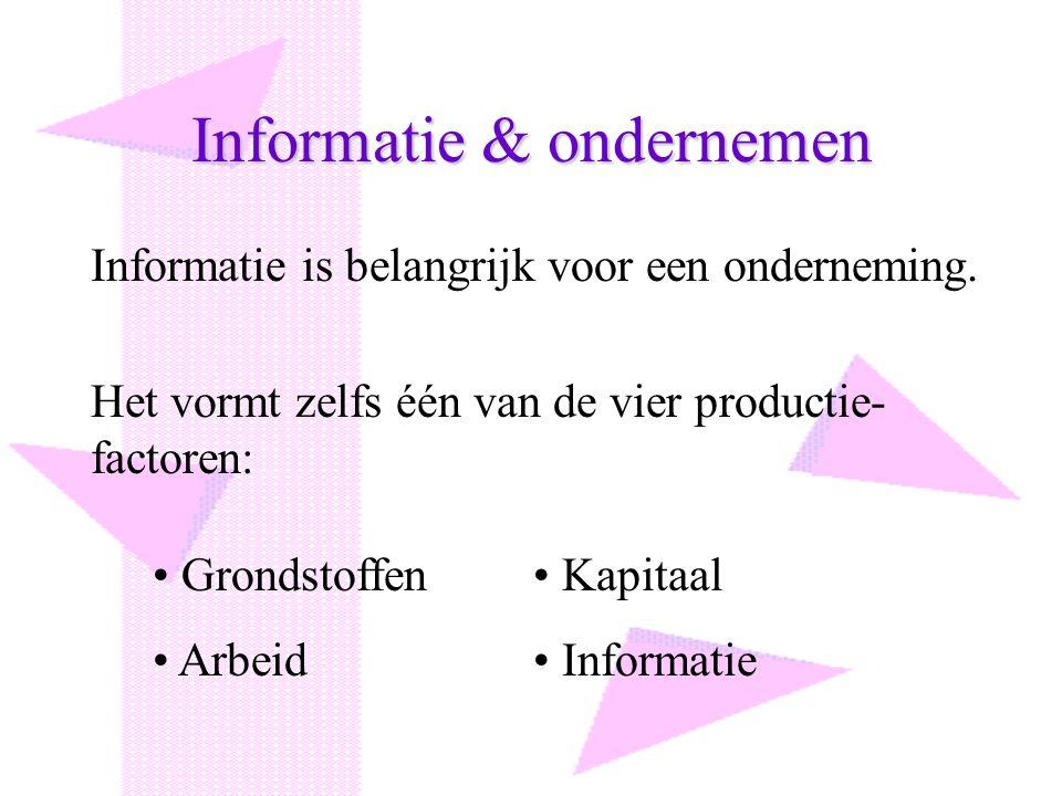 Informatie & ondernemen
