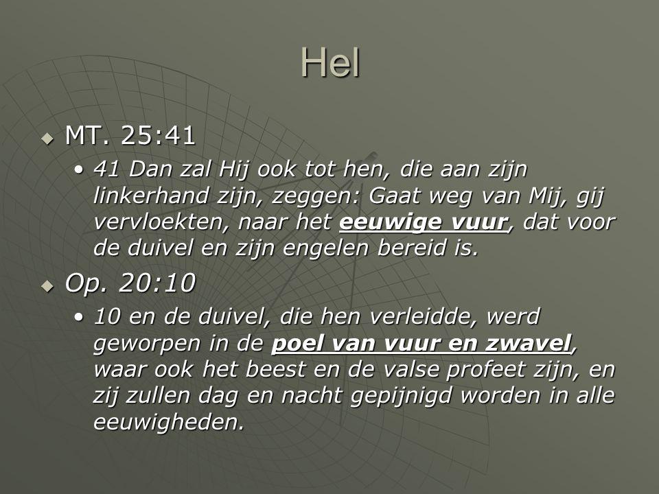 Hel MT. 25:41.