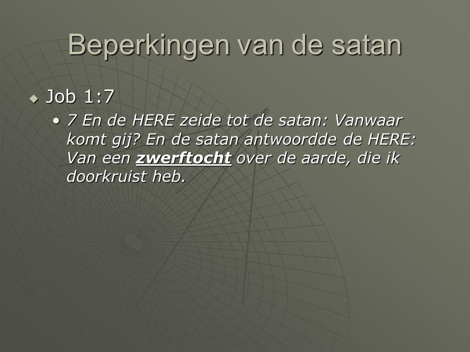Beperkingen van de satan