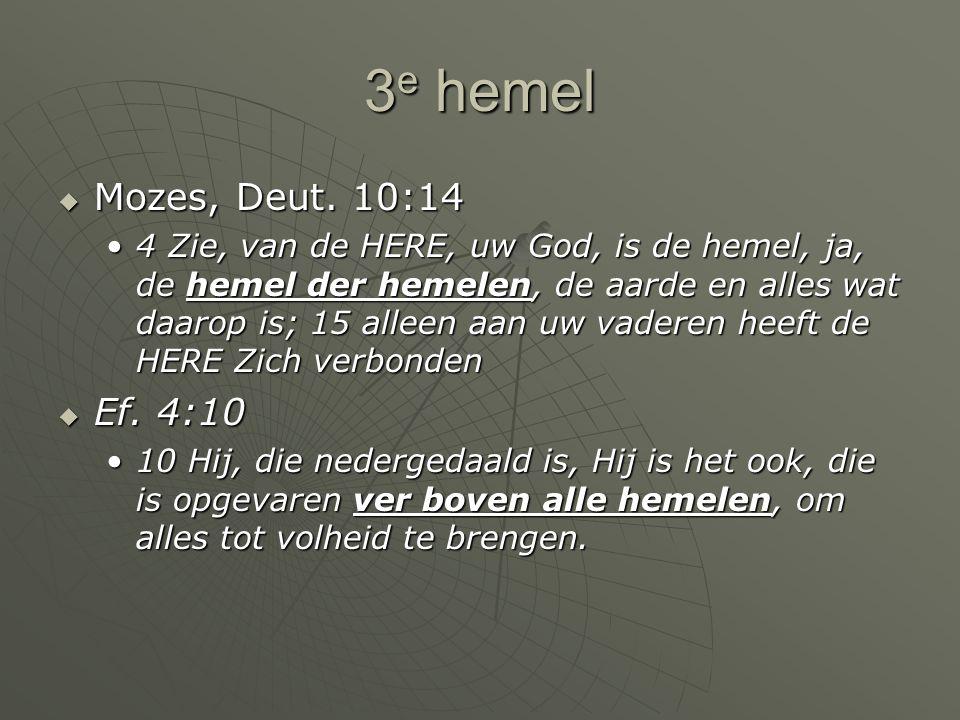3e hemel Mozes, Deut. 10:14.