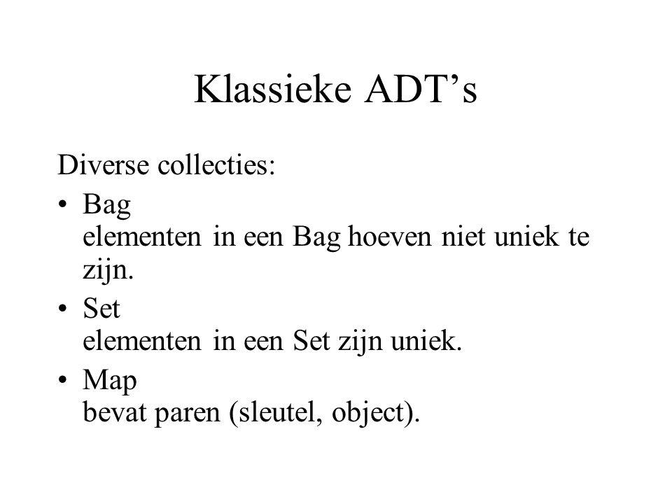 Klassieke ADT's Diverse collecties: