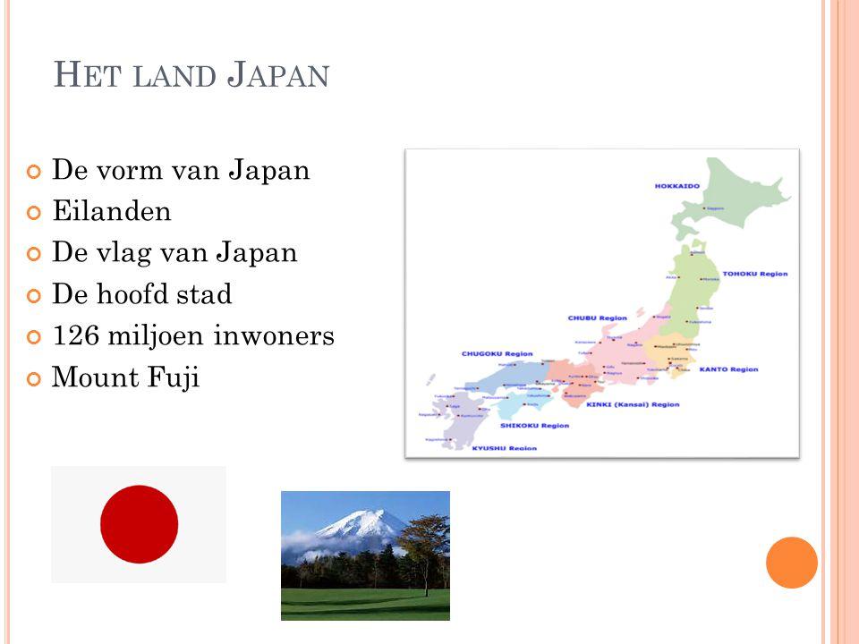Het land Japan De vorm van Japan Eilanden De vlag van Japan
