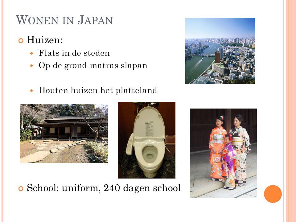 Wonen in Japan Huizen: School: uniform, 240 dagen school
