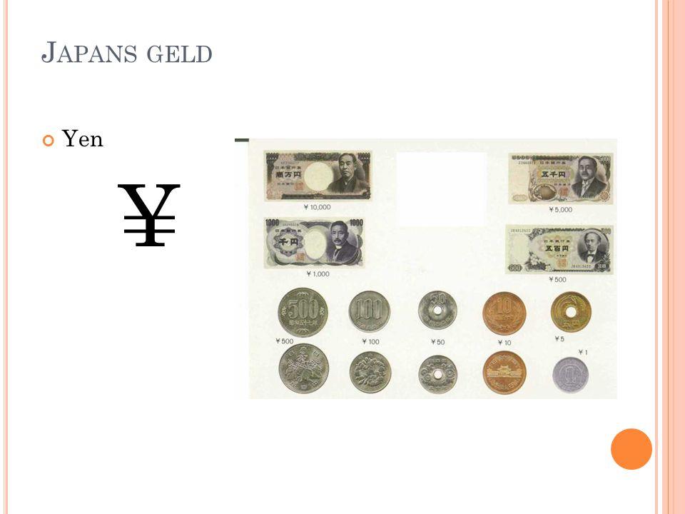 Japans geld Yen ¥