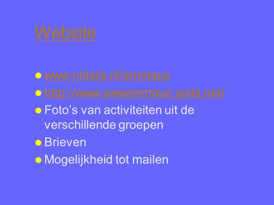 Website www.nldata.nl/emmaus http://www.swsemmaus.yurls.net/