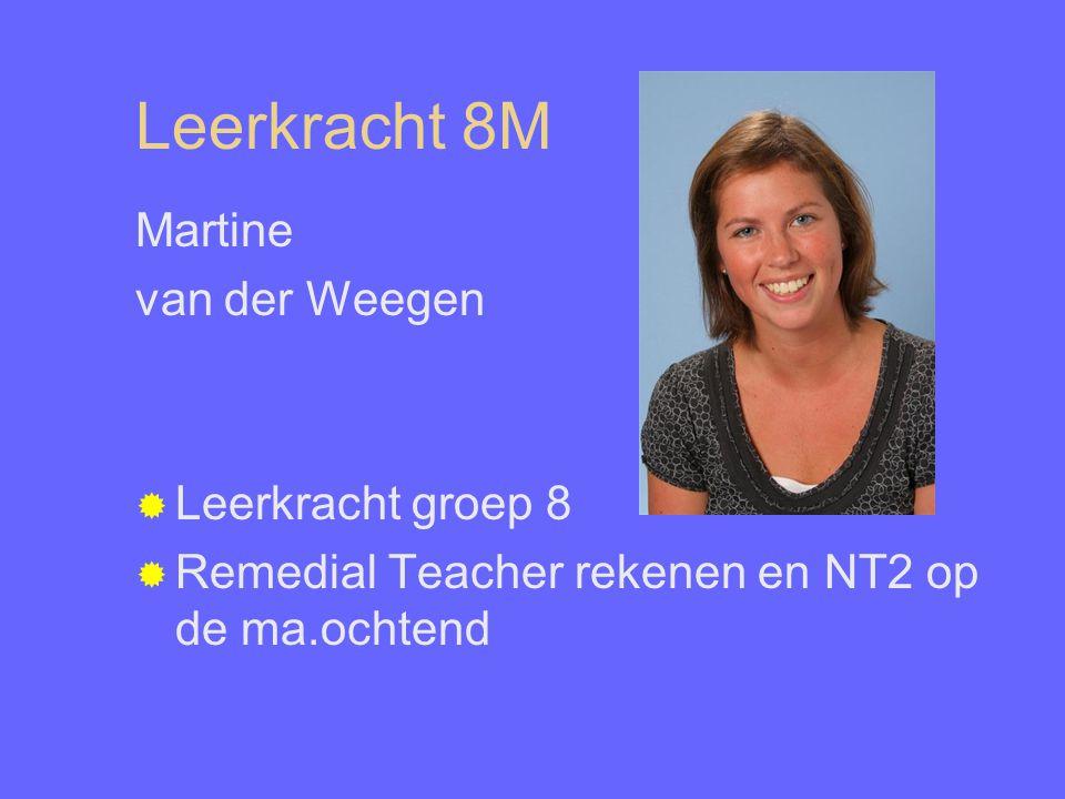 Leerkracht 8M Martine van der Weegen Leerkracht groep 8
