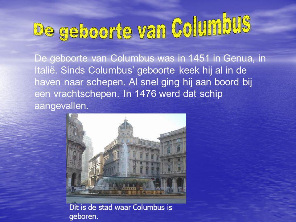 De geboorte van Columbus