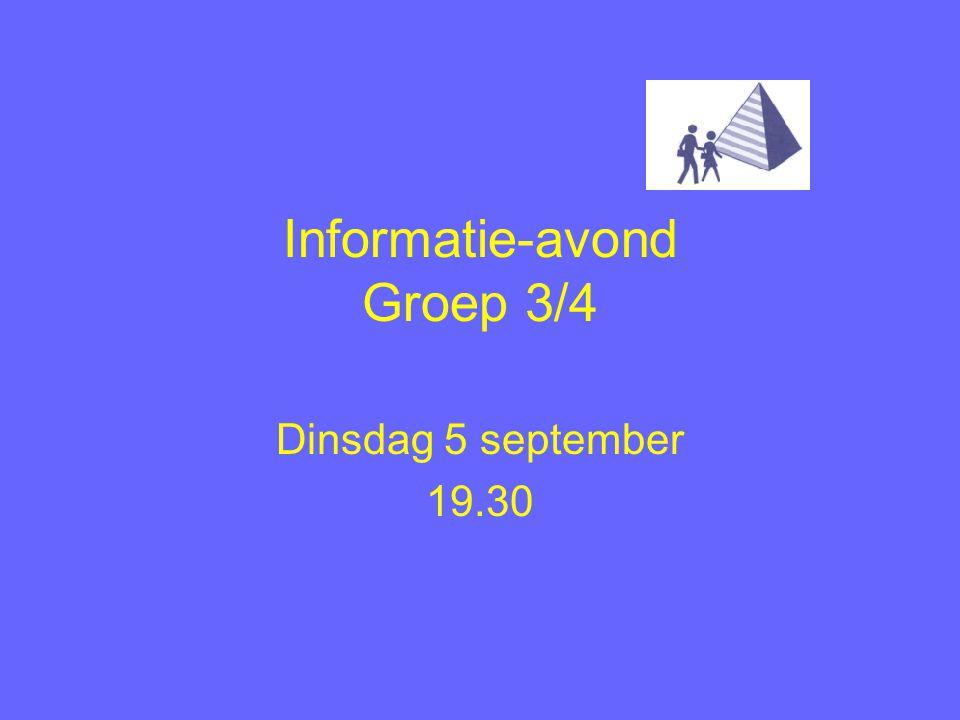 Informatie-avond Groep 3/4