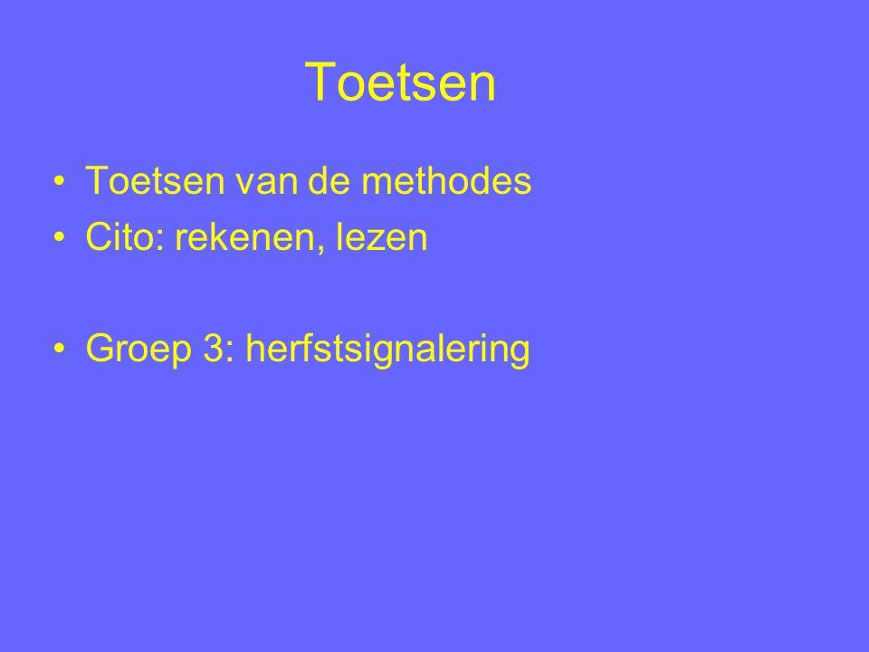 Toetsen Toetsen van de methodes Cito: rekenen, lezen