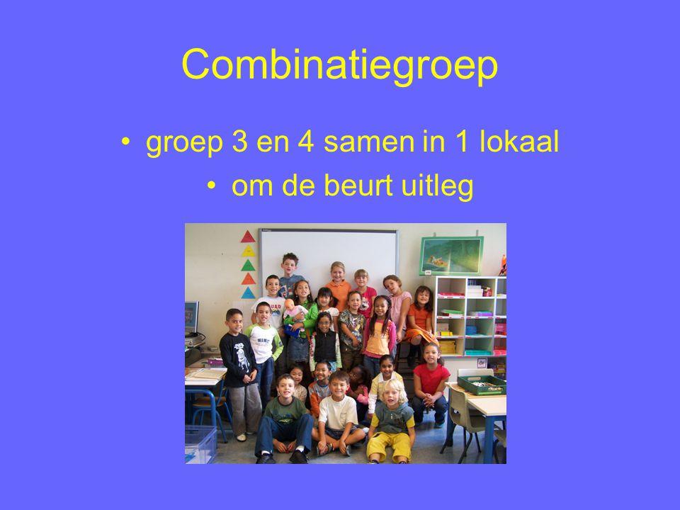 groep 3 en 4 samen in 1 lokaal