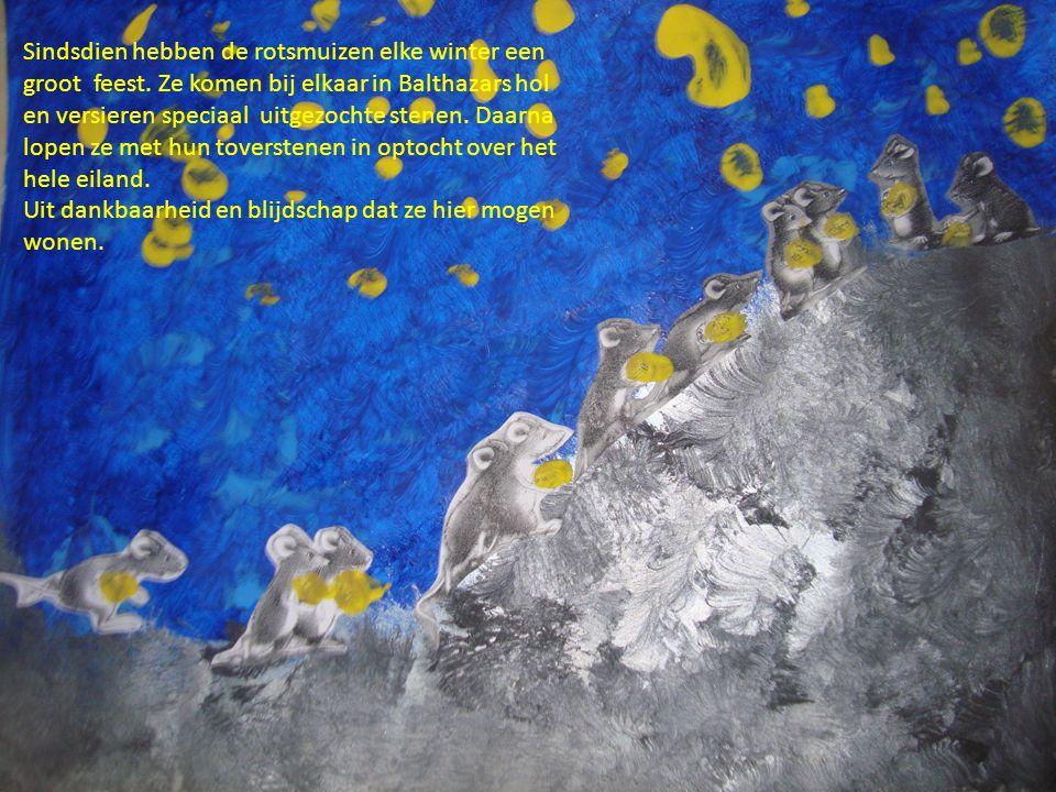 Sindsdien hebben de rotsmuizen elke winter een groot feest