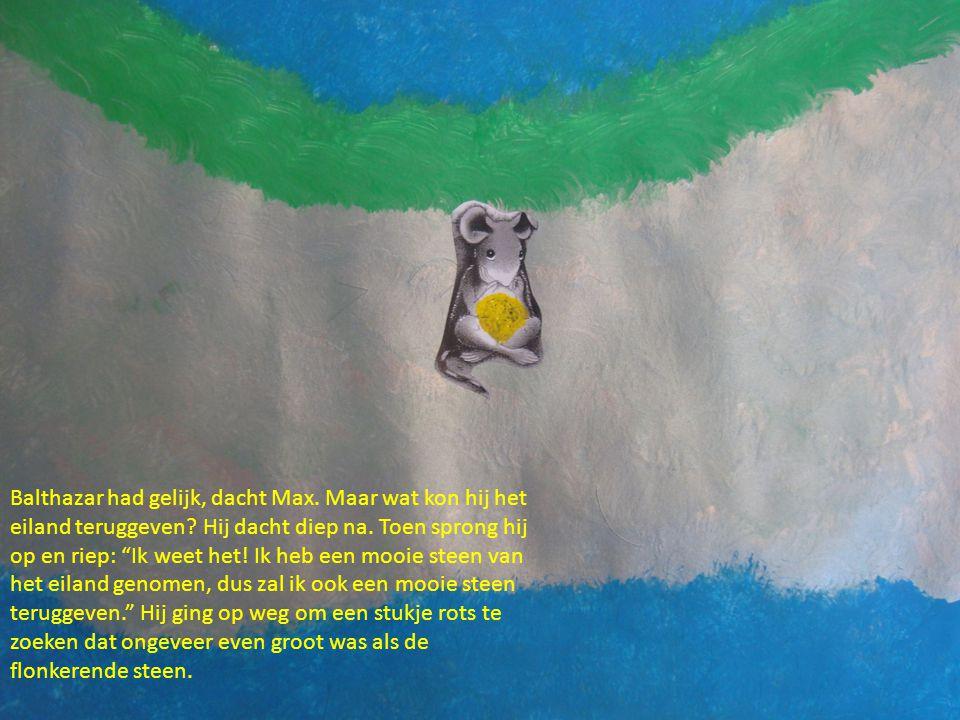 Balthazar had gelijk, dacht Max. Maar wat kon hij het eiland teruggeven.