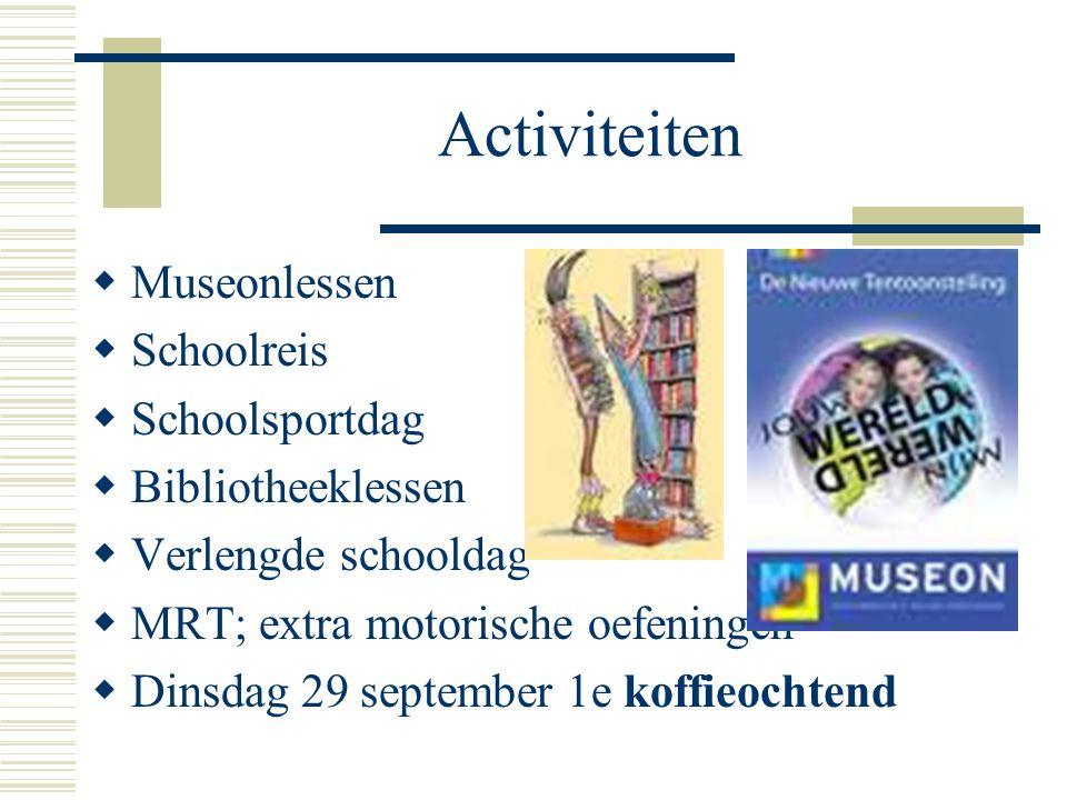 Activiteiten Museonlessen Schoolreis Schoolsportdag Bibliotheeklessen