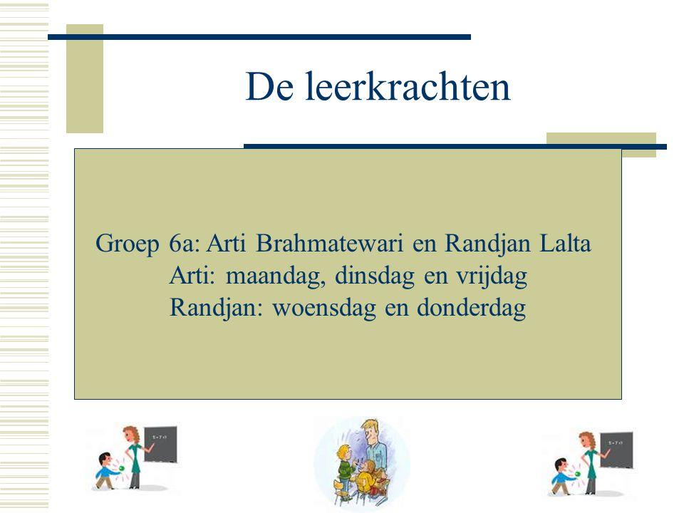 De leerkrachten Groep 6a: Arti Brahmatewari en Randjan Lalta