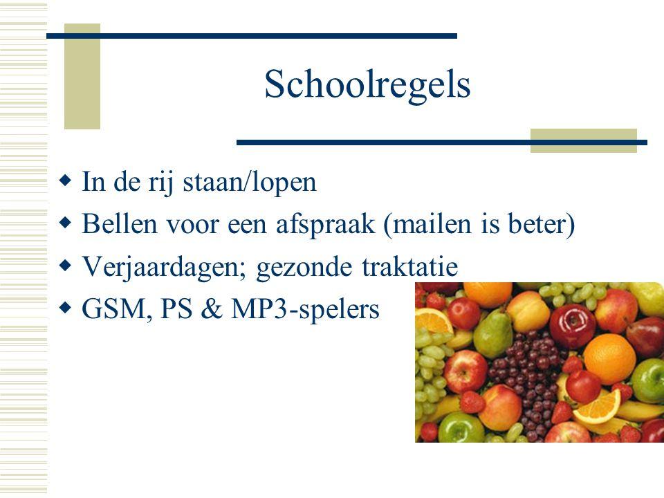 Schoolregels In de rij staan/lopen