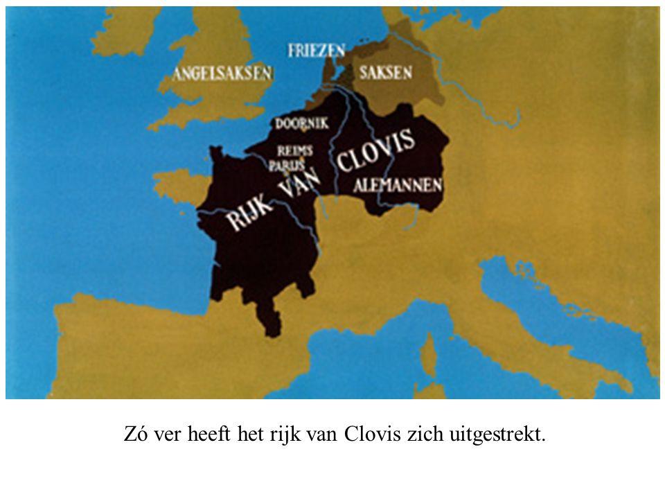 Zó ver heeft het rijk van Clovis zich uitgestrekt.