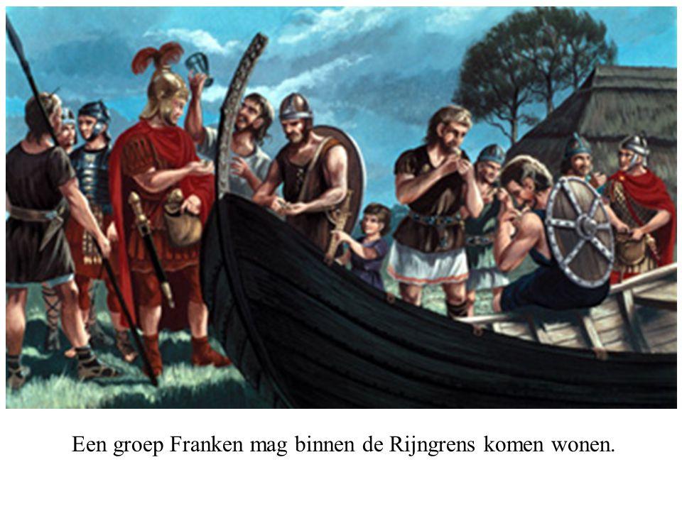 Een groep Franken mag binnen de Rijngrens komen wonen.