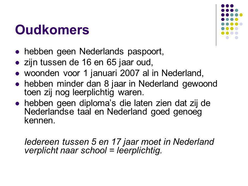 Oudkomers hebben geen Nederlands paspoort,