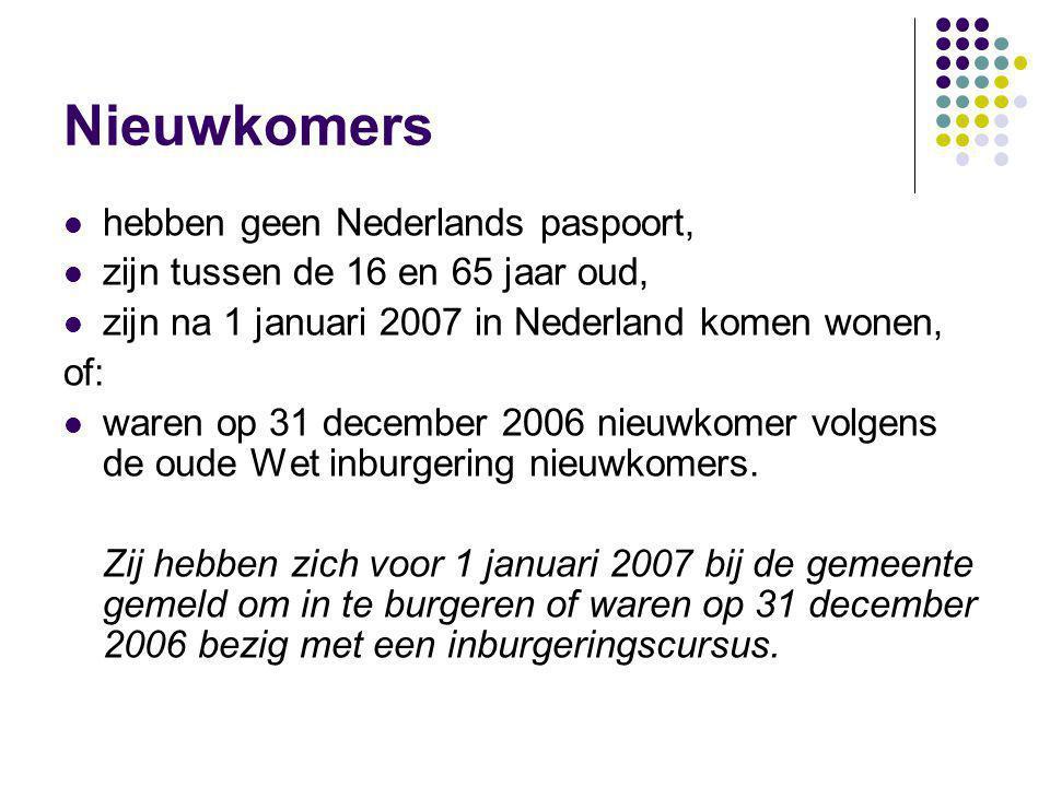 Nieuwkomers hebben geen Nederlands paspoort,