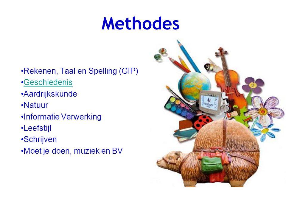 Methodes Rekenen, Taal en Spelling (GIP) Geschiedenis Aardrijkskunde