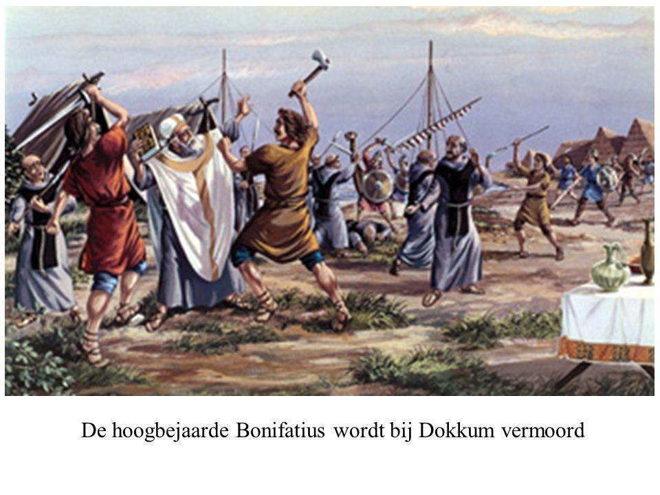 De hoogbejaarde Bonifatius wordt bij Dokkum vermoord