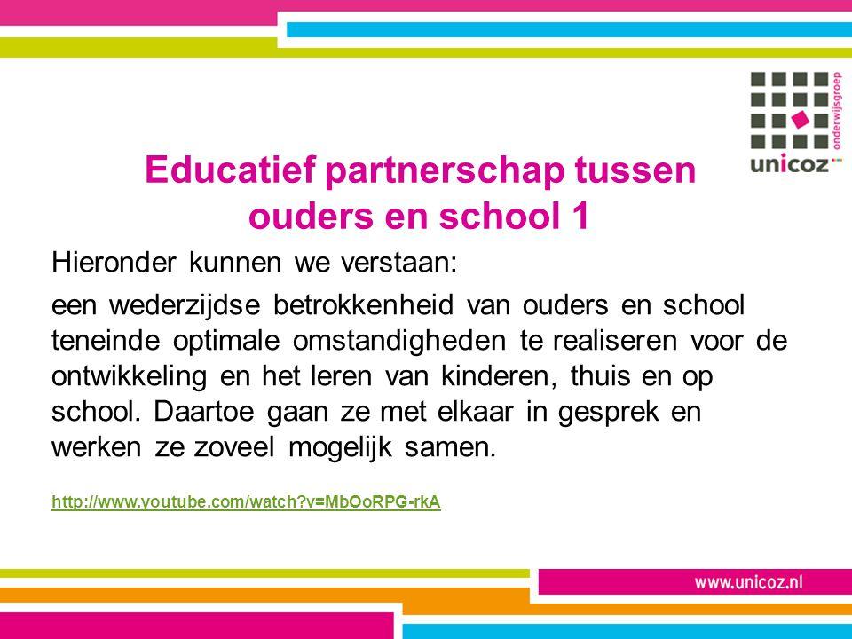 Educatief partnerschap tussen ouders en school 1