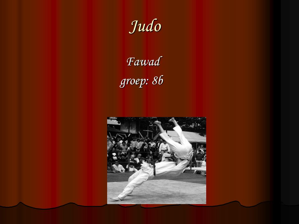 Judo Fawad groep: 8b