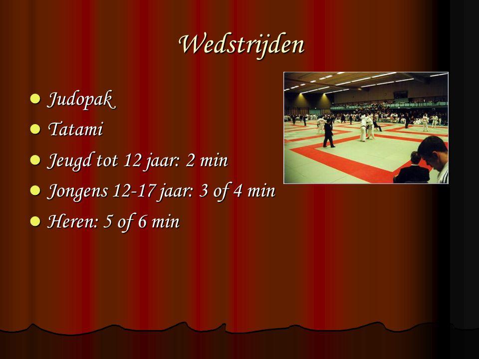 Wedstrijden Judopak Tatami Jeugd tot 12 jaar: 2 min