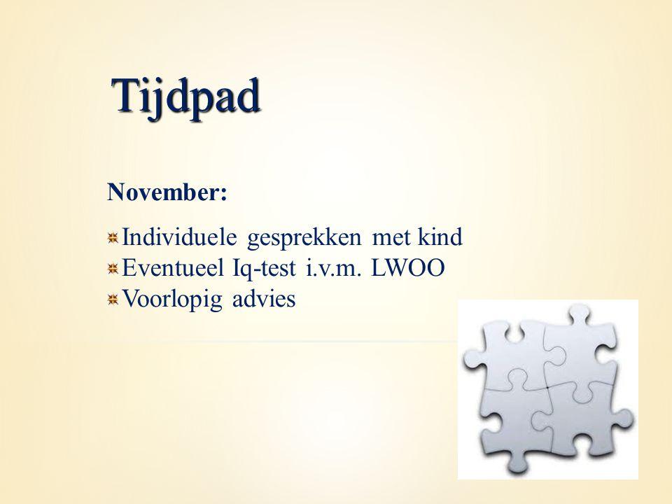 Tijdpad November: Individuele gesprekken met kind