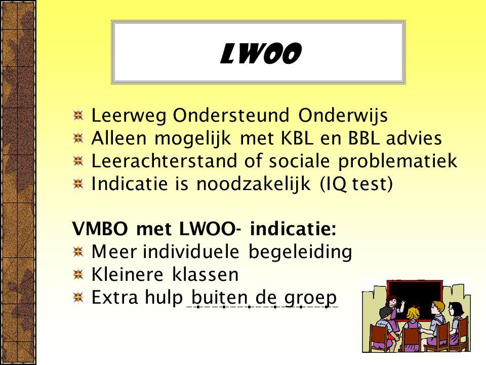 LWOO Leerweg Ondersteund Onderwijs
