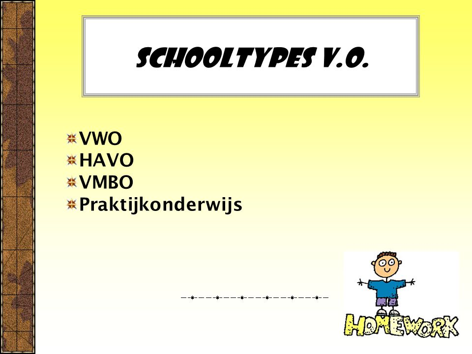VWO HAVO VMBO Praktijkonderwijs