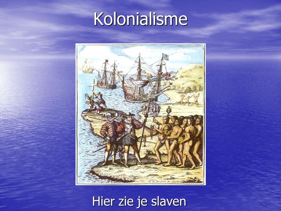 Kolonialisme Hier zie je slaven