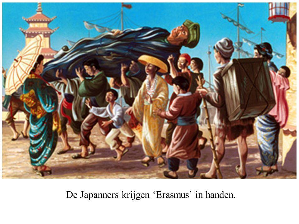 De Japanners krijgen 'Erasmus' in handen.