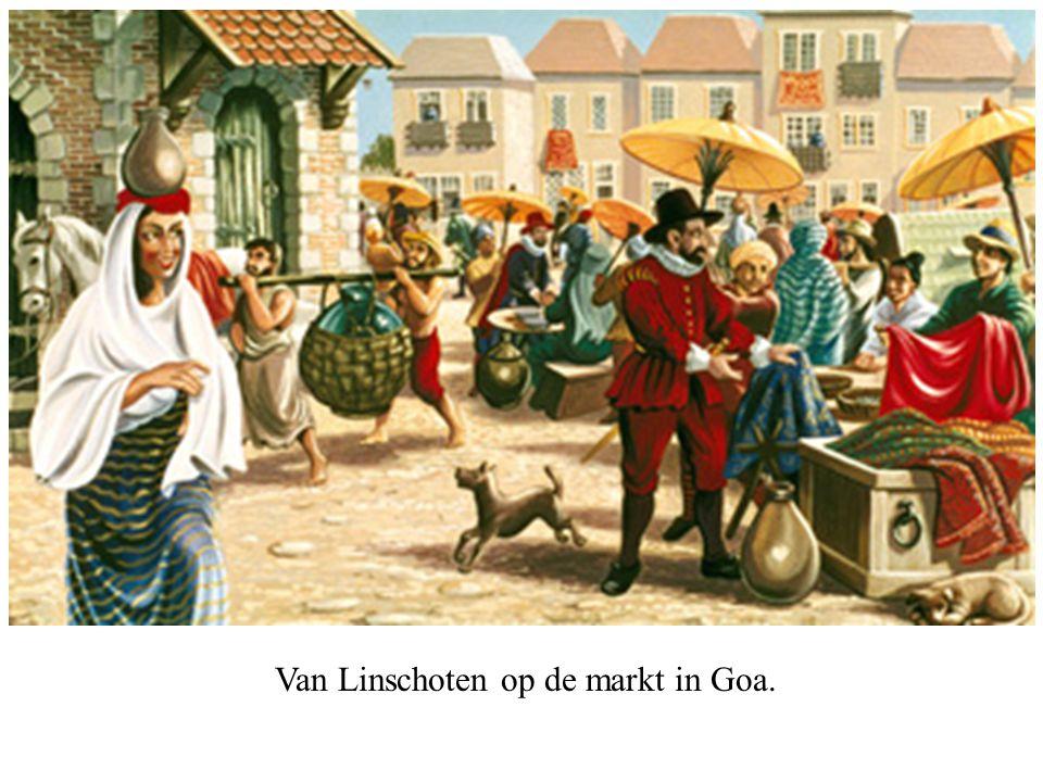 Van Linschoten op de markt in Goa.