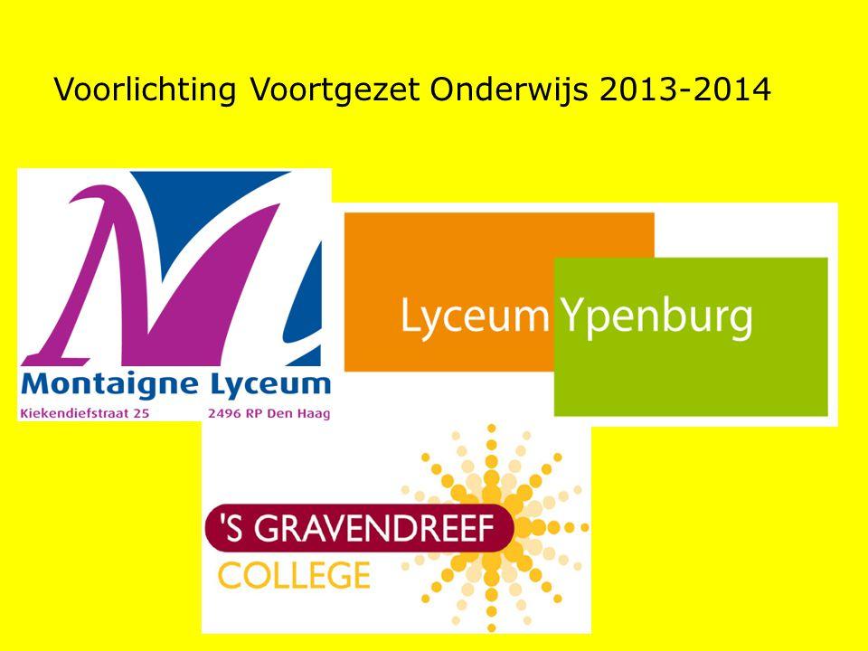Voorlichting Voortgezet Onderwijs 2013-2014