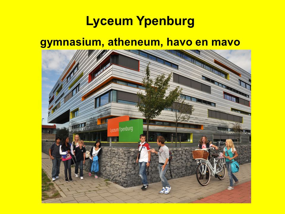 gymnasium, atheneum, havo en mavo