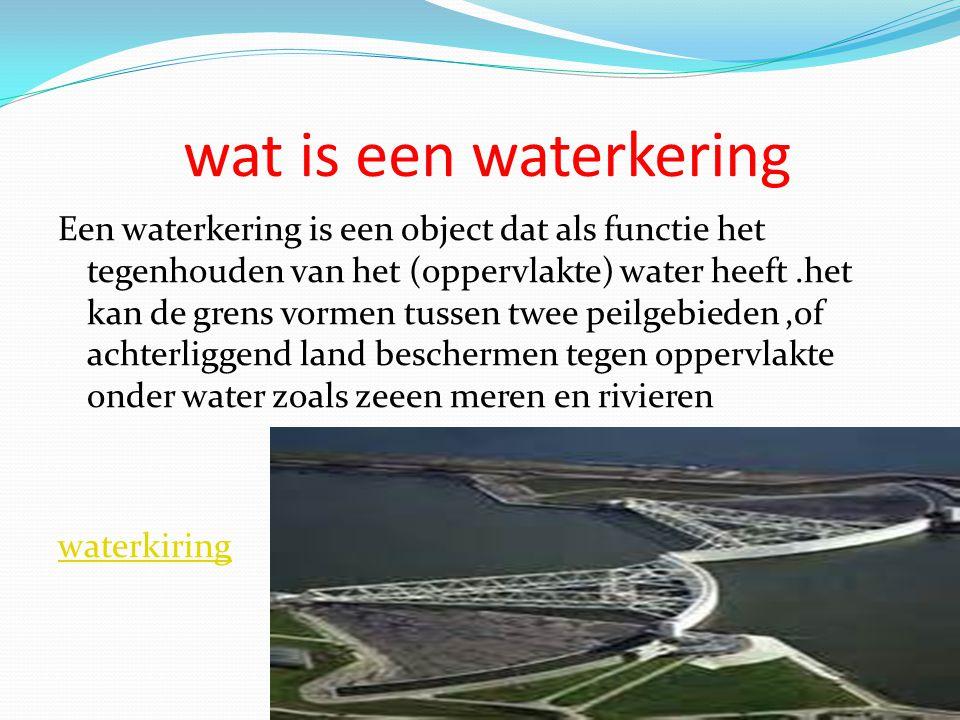 wat is een waterkering