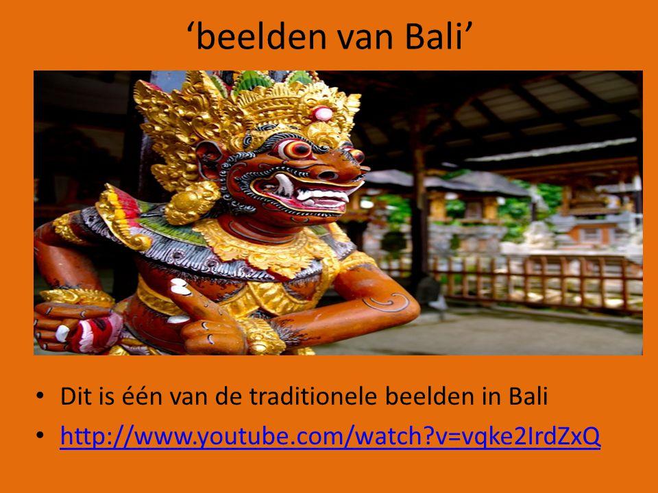 'beelden van Bali' Dit is één van de traditionele beelden in Bali