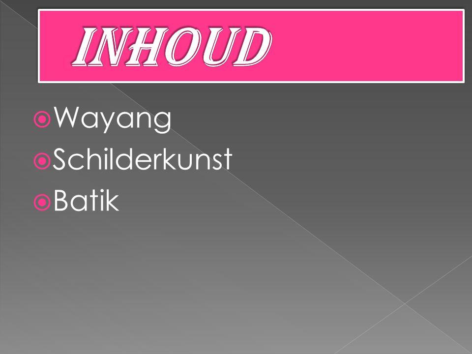 inhoud Wayang Schilderkunst Batik