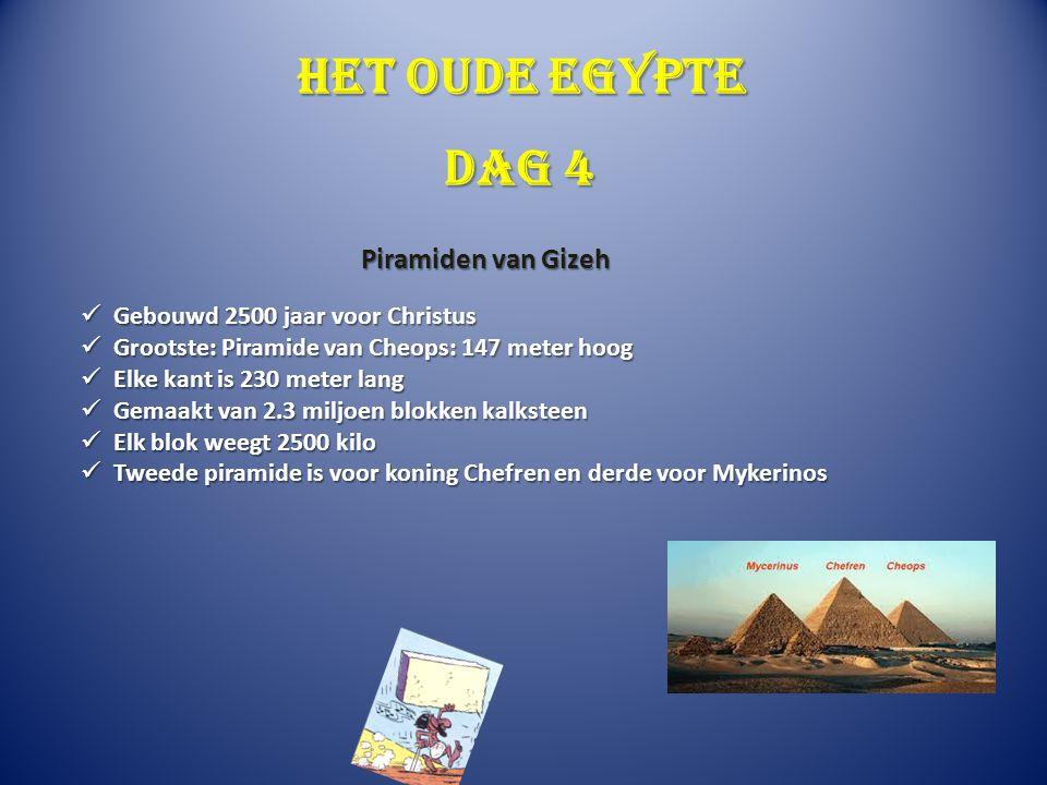 Het oude Egypte Dag 4 Piramiden van Gizeh