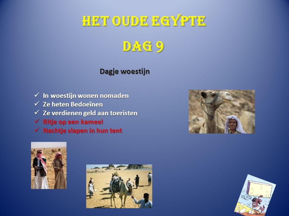 Het oude Egypte Dag 9 Dagje woestijn In woestijn wonen nomaden
