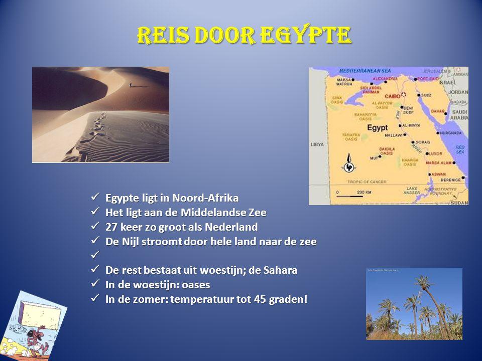 Reis door Egypte Egypte ligt in Noord-Afrika