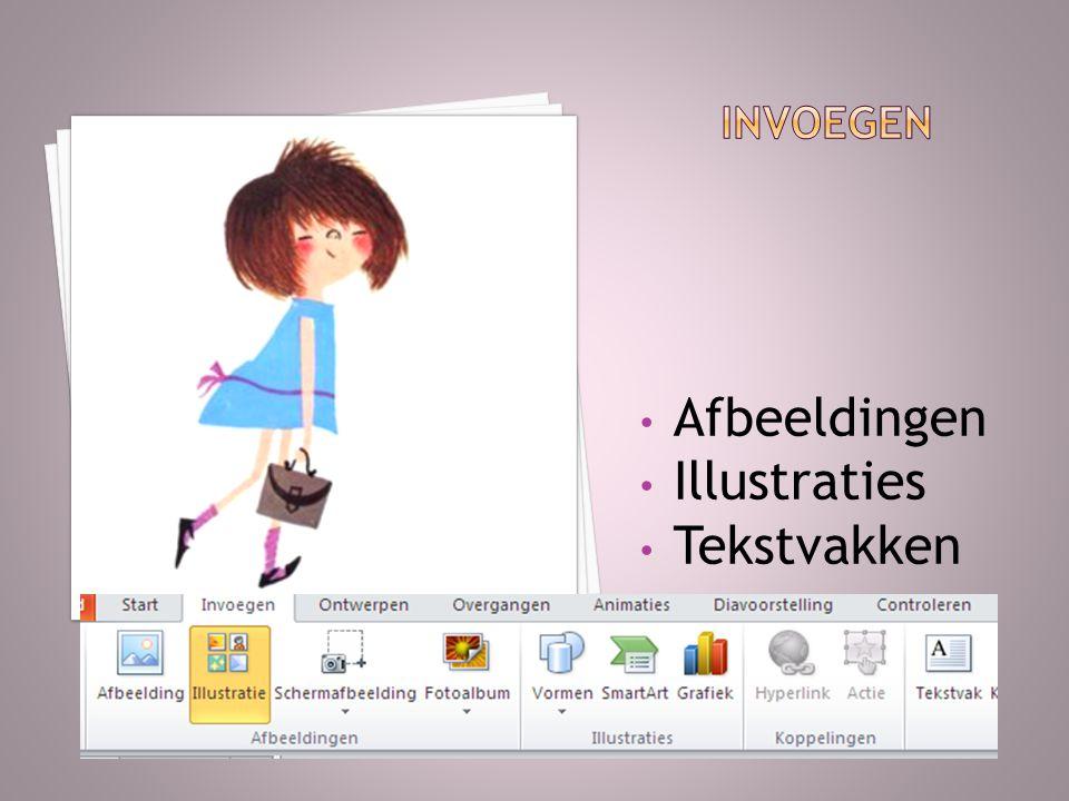 invoegen Afbeeldingen Illustraties Tekstvakken