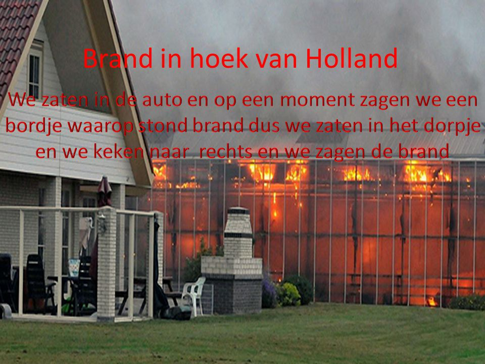 Brand in hoek van Holland