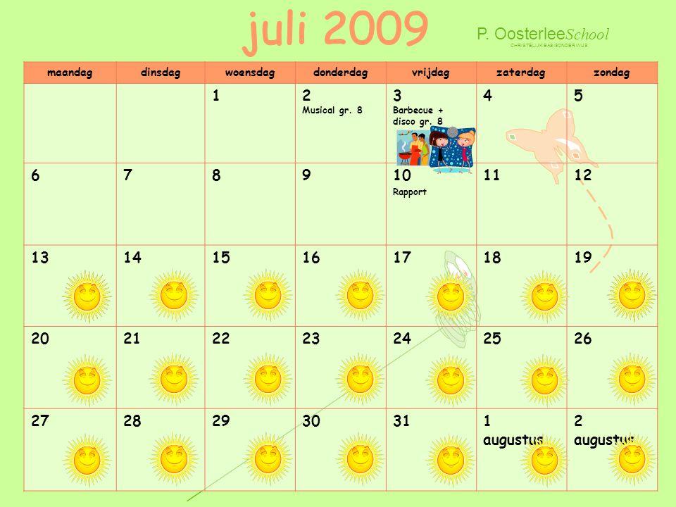 juli 2009 P. OosterleeSchool 1 2 Musical gr. 8