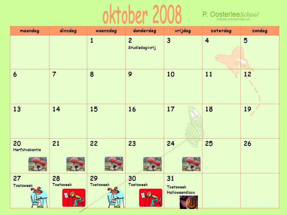 oktober 2008 P. OosterleeSchool 1 2 3 4 5 6 7 8 9 10 11 12 13 14 15 16